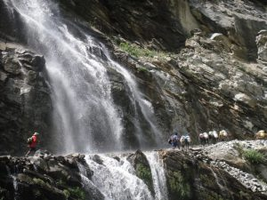 Day-2-A-stream-flowing-right-through-the-road-between-Syange-amp-Chyamche